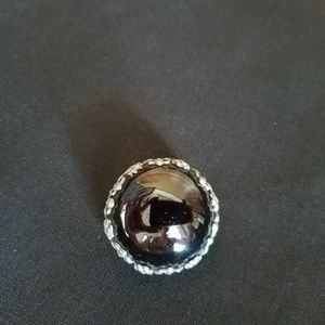 Dior Black Brooch